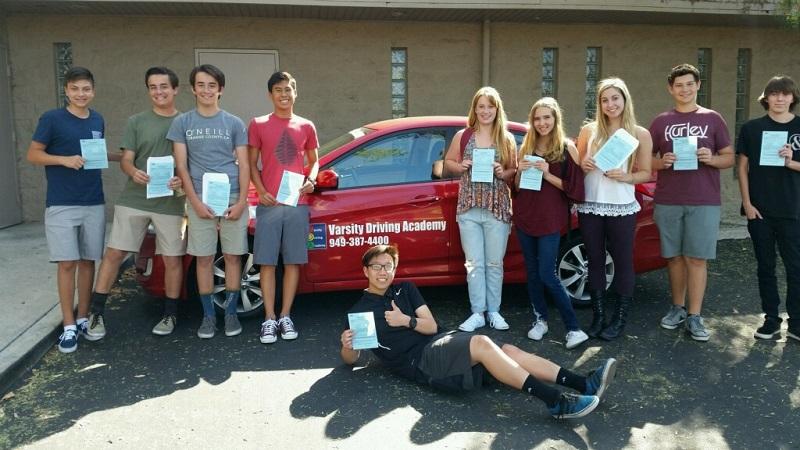 Orange County Teens Around a Training Vehicle