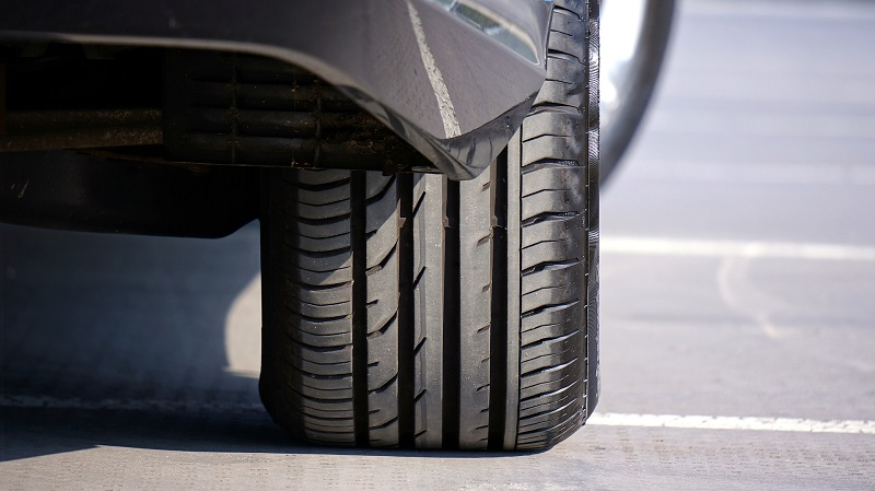 Gas Saving Tips Close Up of a Tire