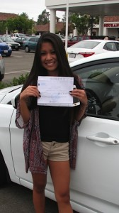 Adult from Tustin passes her behind-the-wheel test with Varsity Driving Academy