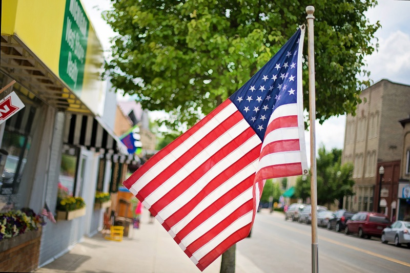 July 2020 Things to Do in Orange County American Flag on Main Street