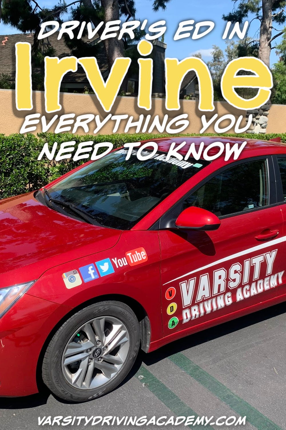 There are a few Irvine drivers ed resources you can utilize to get started learning how to drive and how to be a safe driver in Irvine.