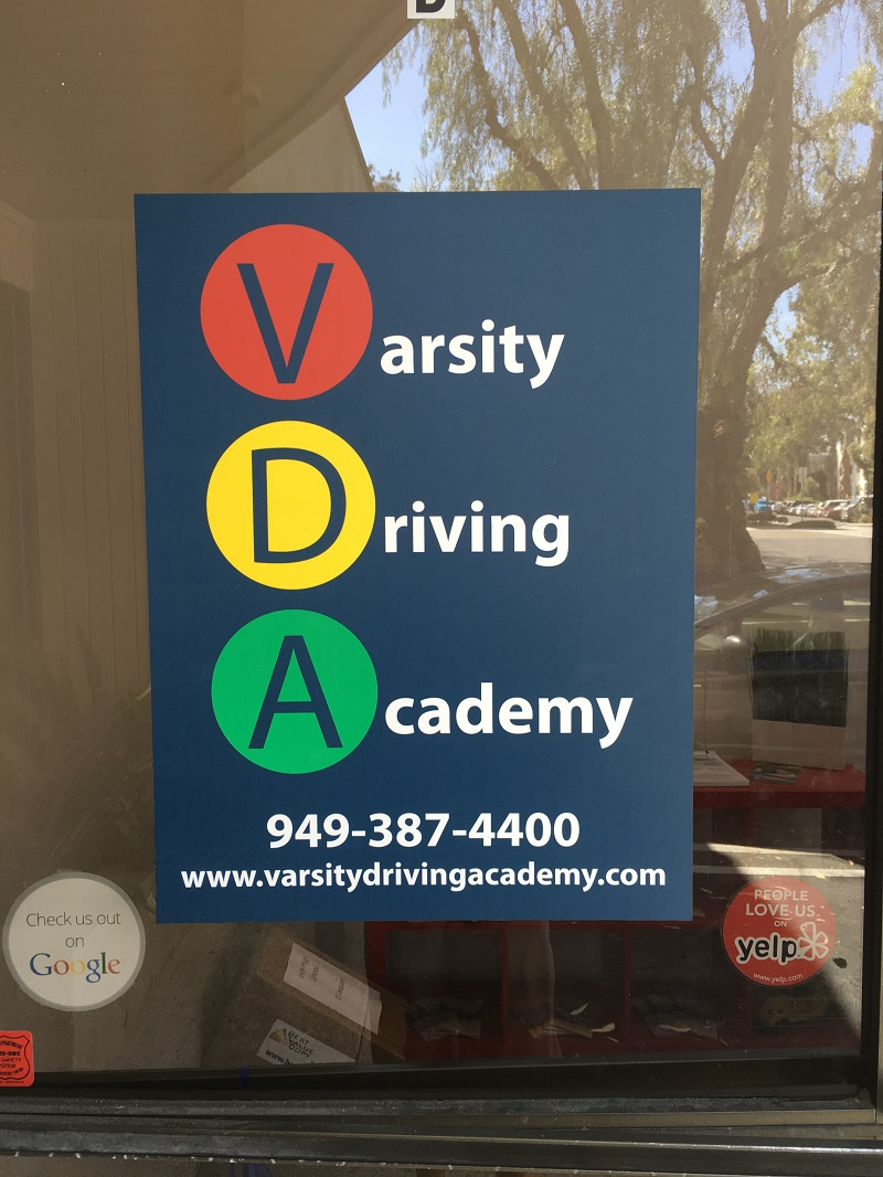 Irvine Drivers Ed Resources Varsity Driving Academy Sign