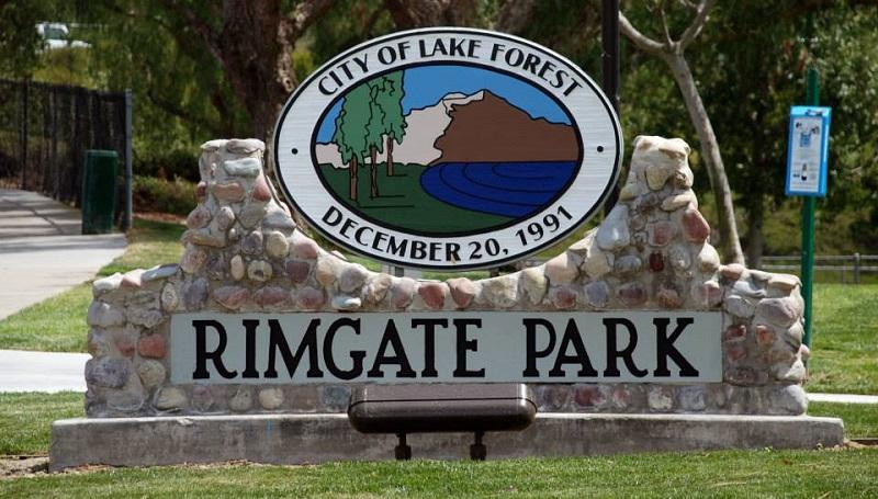 Lake Forest Drivers Ed Rimgate Park Sign
