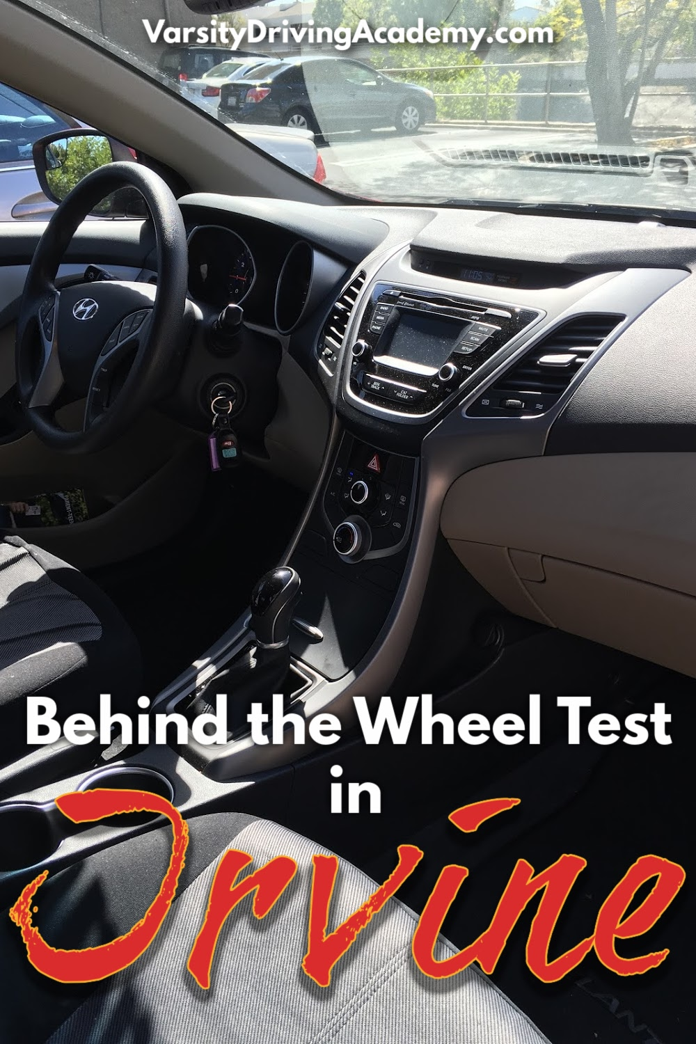 Students must complete a few steps before receiving a driver's license and the behind the wheel test in Irvine is the last step for Irvine students.