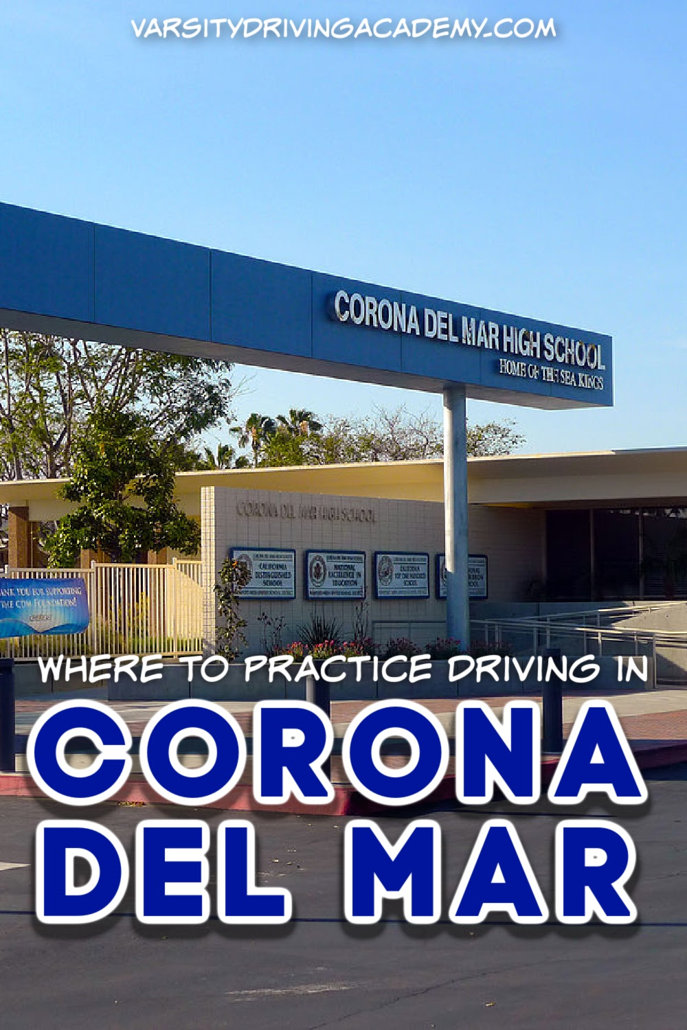Finding out where to practice driving in Corona Del Mar means looking for safe places with as little traffic as possible.