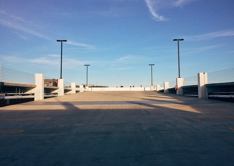 Where to Practice Driving in Huntington Beach Empty Parking Garage