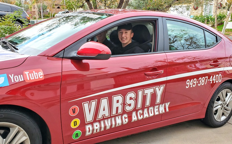 Mission Viejo Drivers Ed Student Inside a Training Vehicle