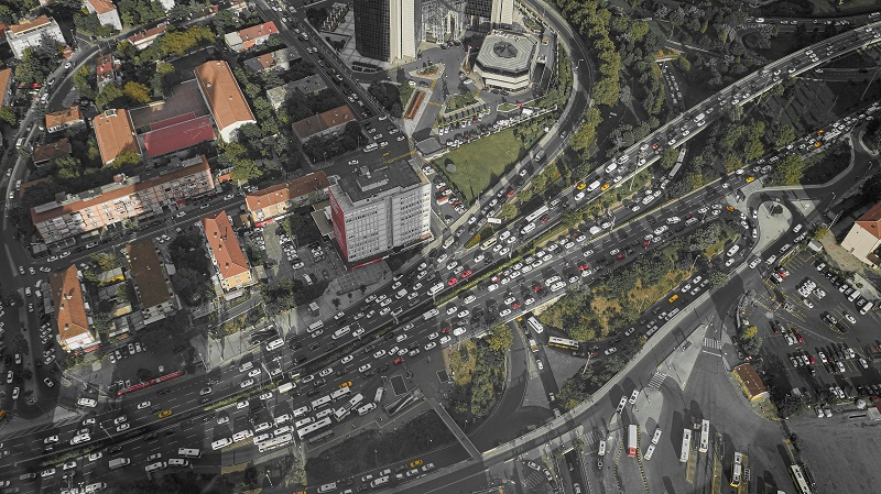 Where to Practice Driving in Laguna Beach Sky View of a Busy Street