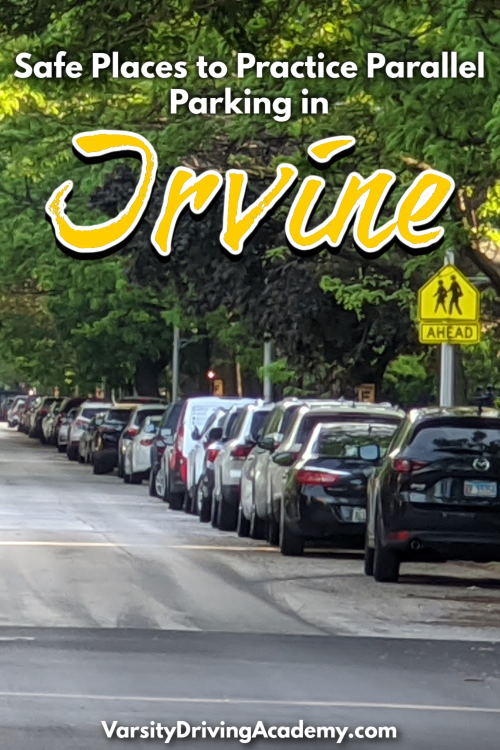 Finding safe places to practice parallel parking in Irvine is easier than you may think and very important to learning an undying driving skill.