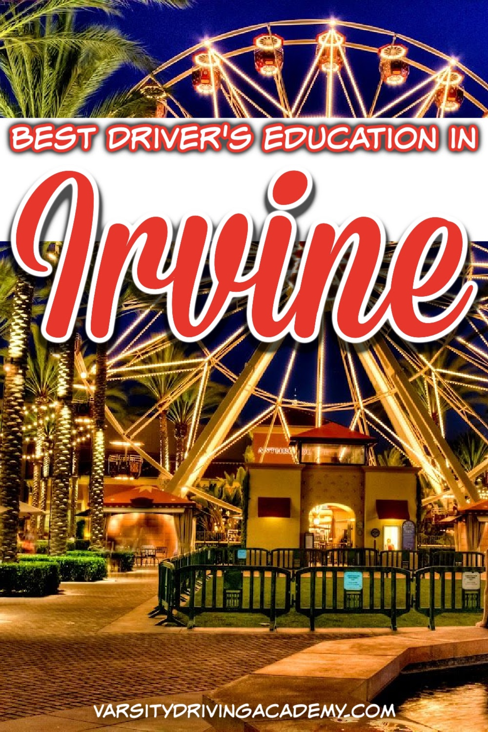 Varsity Driving Academy is the top rated Irvine driving school for over 9 years. Choose only the best for your driver's training from the most trusted Irvine Drivers Ed, Varsity Driving Academy.