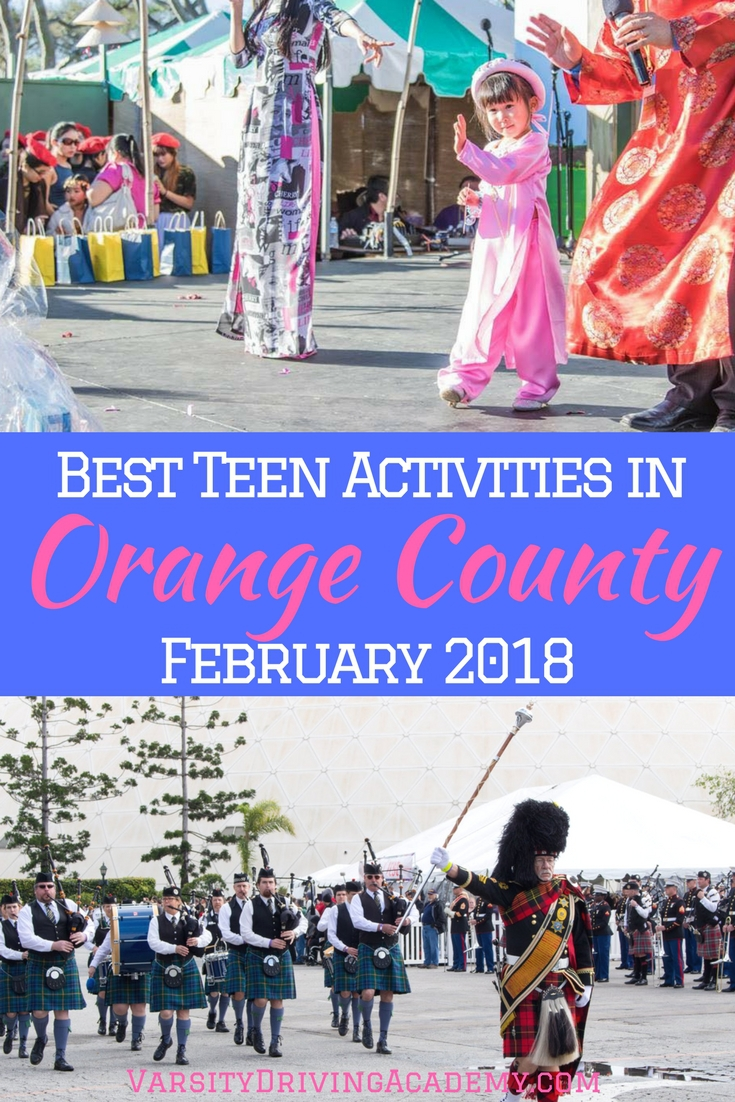 Fill your days with the best teen activities in Orange County February 2018 and enjoy the last few days of winter, California style.