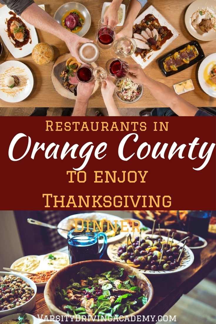 Head to one of many different restaurants to enjoy Thanksgiving dinner in Orange County so you don't need to spend all day in the kitchen.