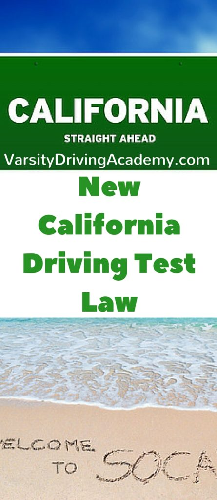 California has introduced a new law that has gone into affect and will affect all new students getting ready for their driving test at the DMV.