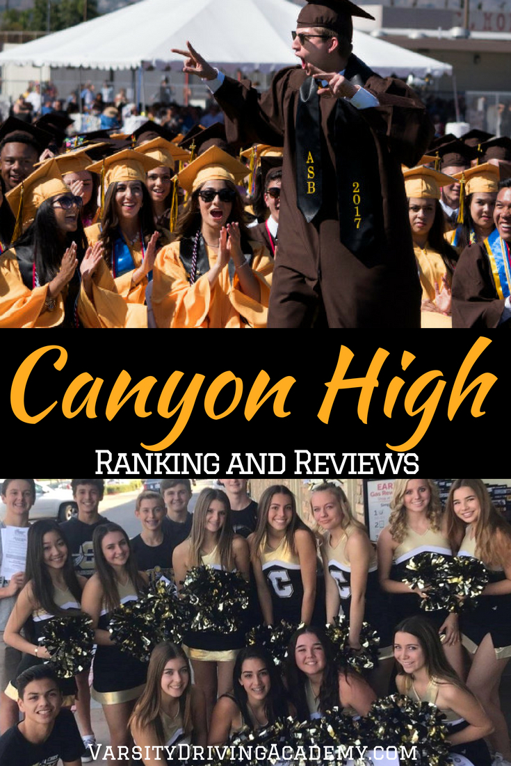 Canyon High School ranking is determined by many different factors but most of them can be measured by test scores and results of the students.