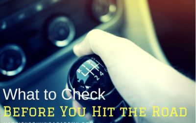 What to do Before You Drive