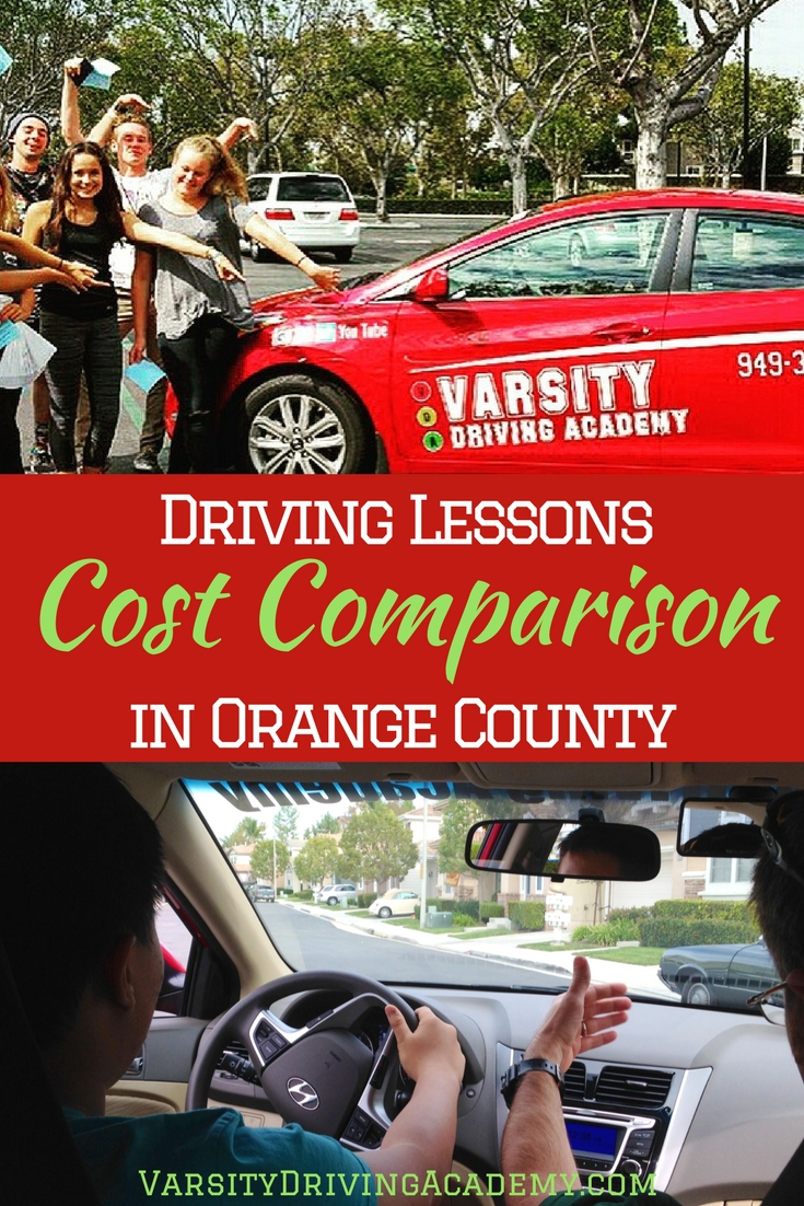 Looking for a driving school in Orange County, you'll need to do a driving lessons cost comparison in Orange County and compare services.