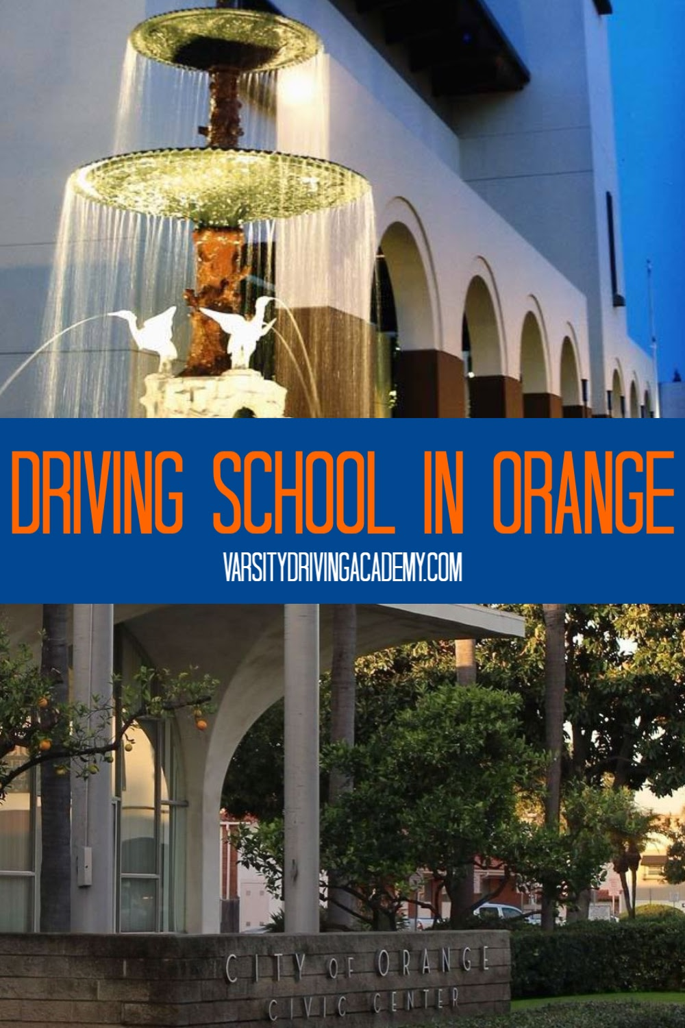 The best driving school in Orange is Varsity Driving Academy where students learn driver's ed in Orange as well as defensive driving tactics.