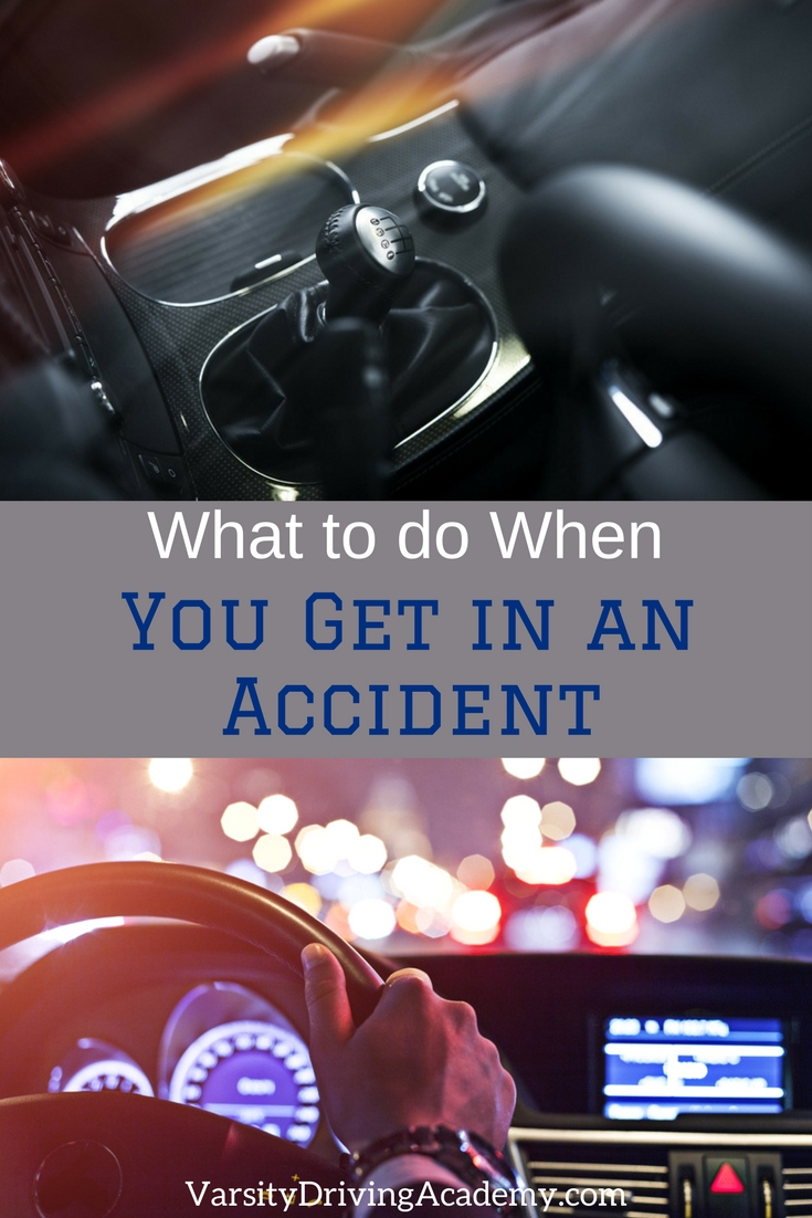 When you get in an accident there are a few things that must be done first to keep you immediately safe and safe after everything has settled down.