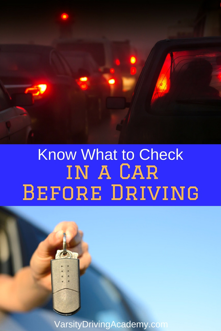 There are many aspects of driving that you should check in a car before driving and everything you check will keep you safe on the road.