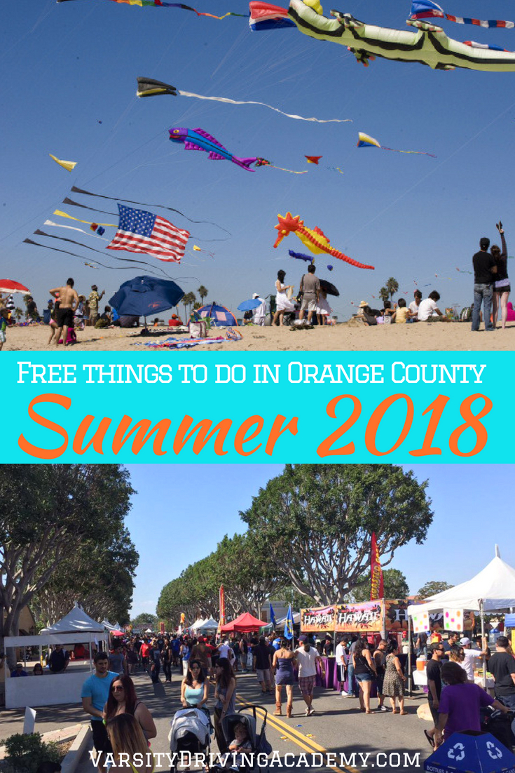 There's no need to travel far to enjoy summer, instead, just enjoy the best free things to do in summer 2018 in Orange County.