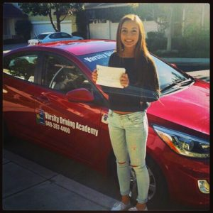 Ladera Ranch Driving School - Varsity Driving Academy Graduate