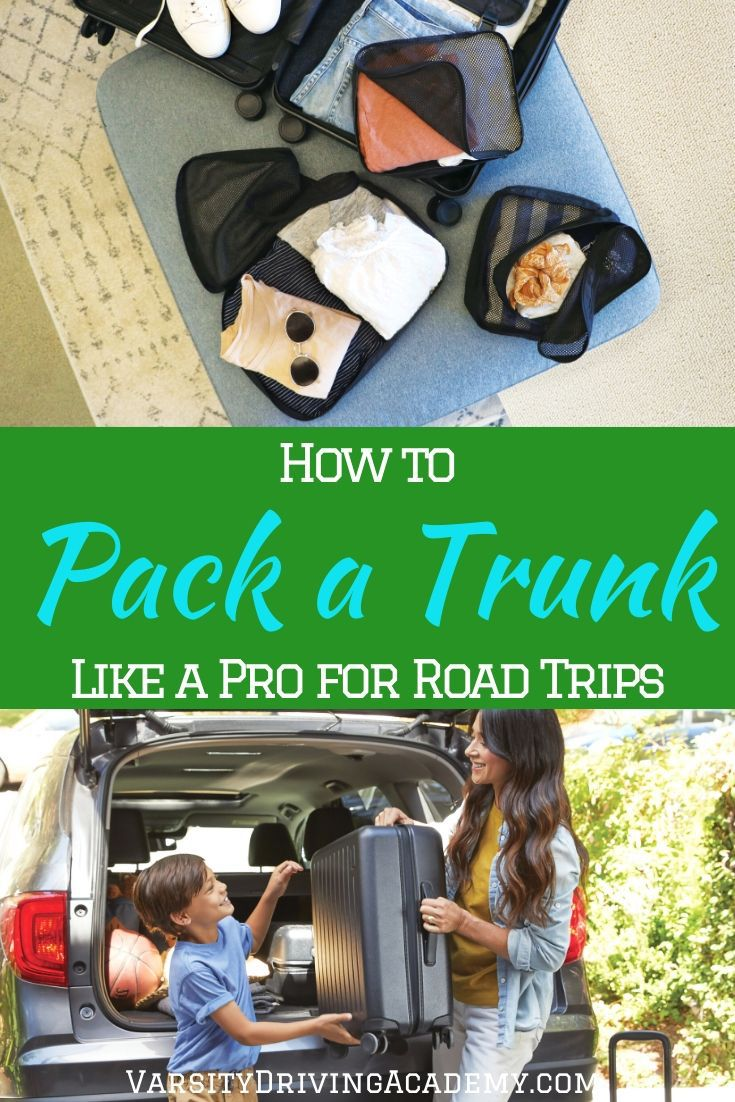 Learning how to pack your trunk is essential for taking long road trips so that you can bring everything you need for the road and the trip.