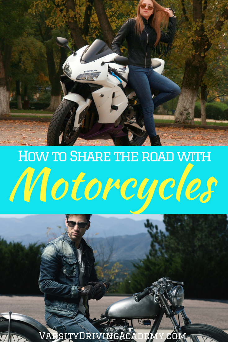 Know how to share the road with motorcycles and avoid causing any damage to your car, the motorcycle, or anyone else on the road.