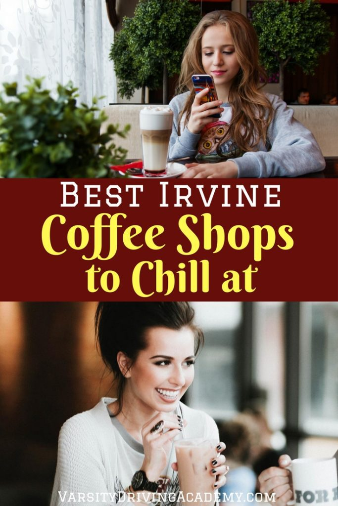 Chill with friends at one of the many Irvine coffee shops after a long day of learning or on the weekends after studying.