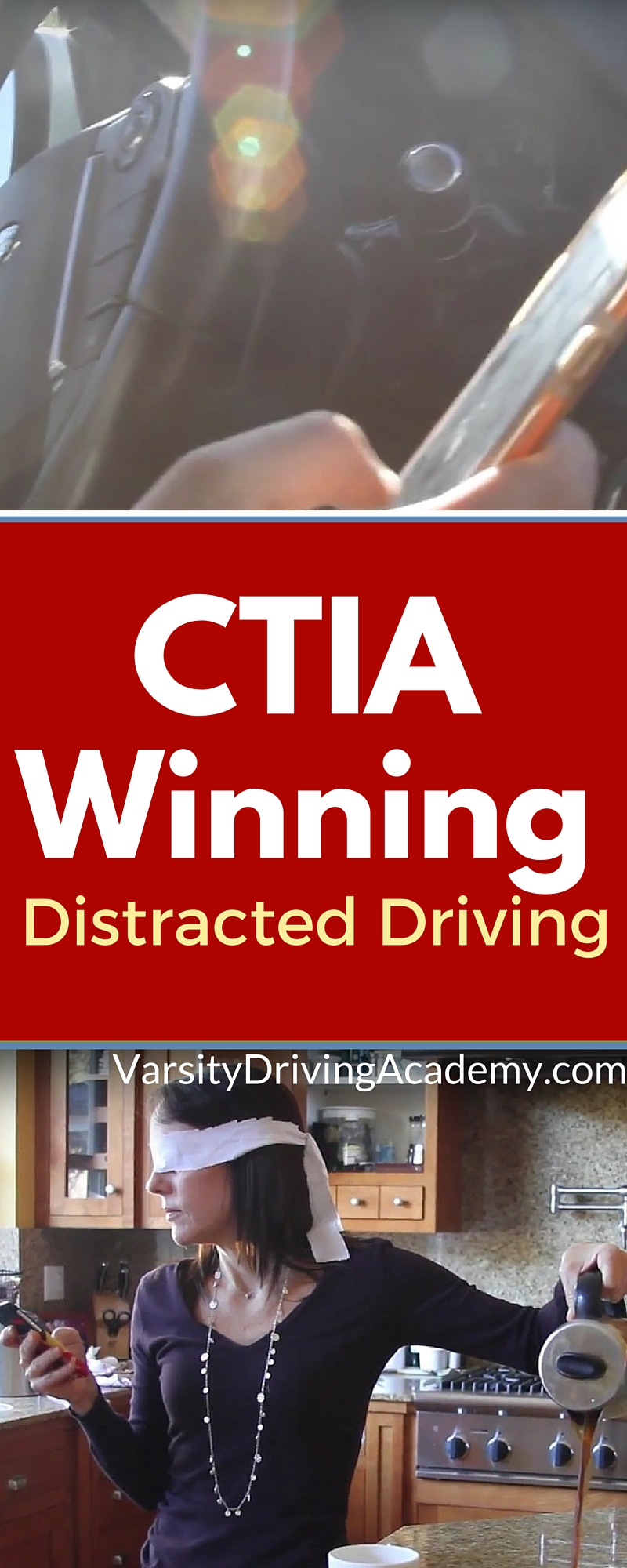 The CTIA held a contest to search for a filmmaker who can properly represent the dangers of distracted driving and an Irvine teen won. Using a blindfold, the dangers of distracted driving are powerfully represented in 30 seconds.