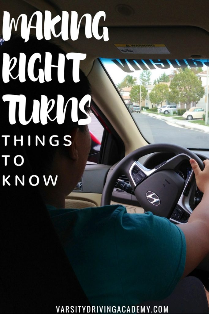 Making right turns is more complicated than most think and should be given the proper attention when learning how to dirve.