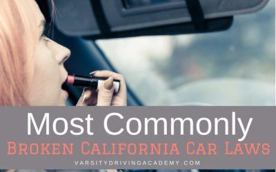 5 Commonly Broken California Car Laws