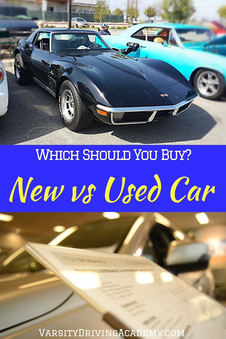 A new car vs used car is the ultimate debate amongst parents and teens but there is an answer to which way you should go.