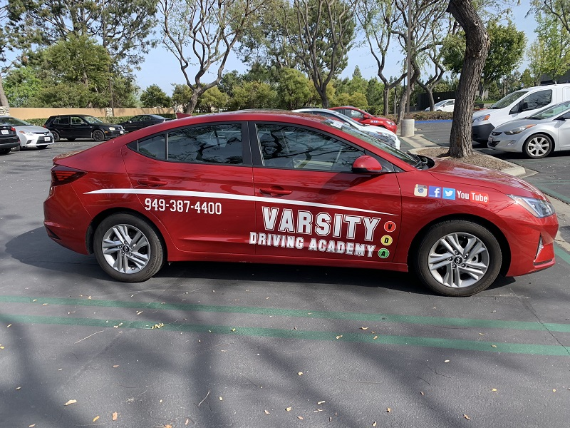Newport Beach Driving School Vehicle in Parking Lot