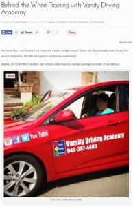 Varsity Driving Academy OCMB Oct 2014