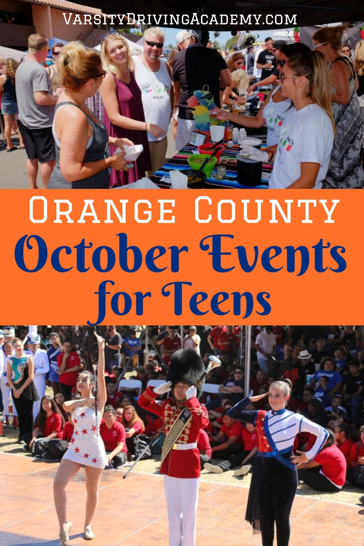 Orange County Teen Model: October Events In Orange County California For Teens- VDA
