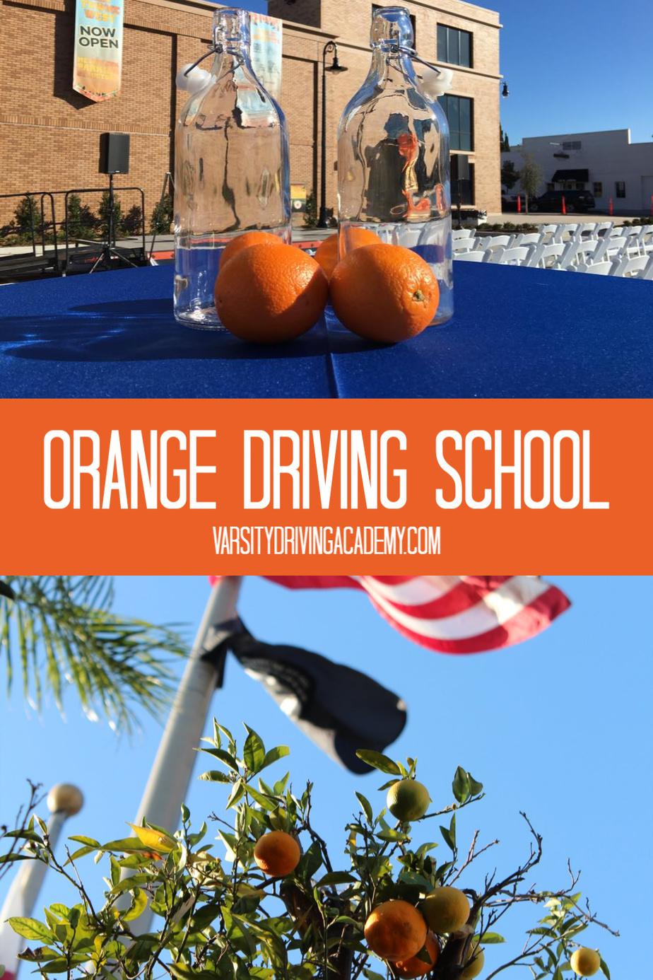 The best driving school in Orange is Varsity Driving Academy and you can attend the drivers ed in Orange county by registering for classes at the best Orange driving school, Varsity Driving Academy, today!