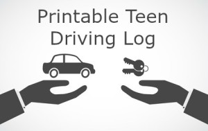 Printable Teen Driving Log