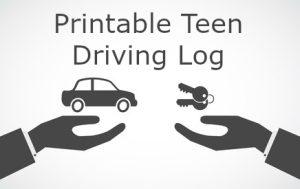 Printable Teen Driving Log