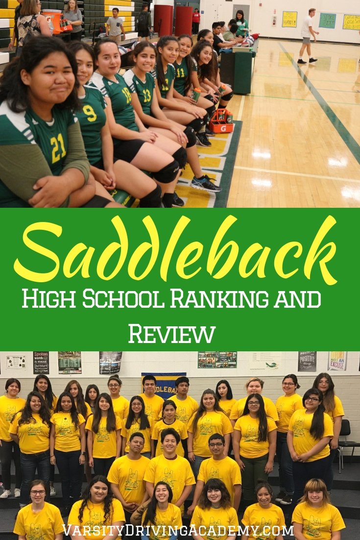 When we compare high schools we get a ranking and the Saddleback High School ranking shows us where improvements can be made.