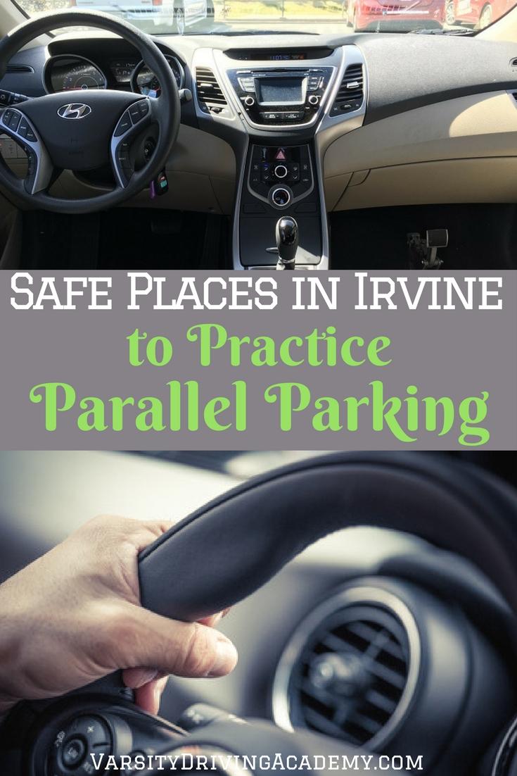 safe places to practice parallel parking in irvine varsity driving academy. Black Bedroom Furniture Sets. Home Design Ideas