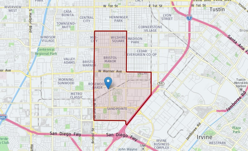 There are six different Santa Ana high school attendance options and each one comes with its own boundary map and service areas.