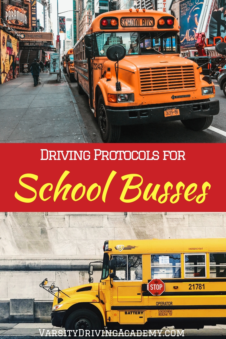 We all need to follow the school bus protocols for drivers when a school bus stops in front of us either to drop off or pick up students.