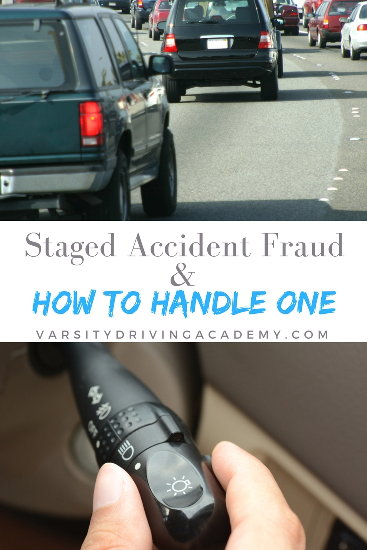 Stay alert while on the road and handle a staged accident fraud in the best ways possible to keep yourself safe and protected.
