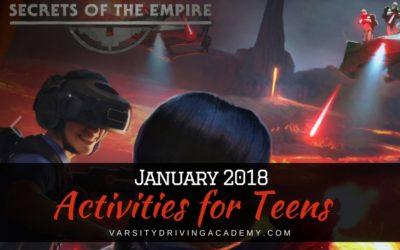 January 2018 Teen Activities in Orange County