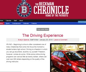 The Beckman Chronicle Jan 2015