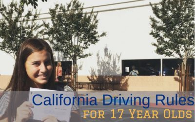 California Driving Rules for 17 Year Olds