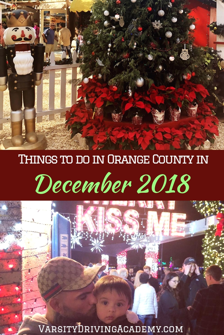 Get your comfy clothes on and get out there to celebrate your favorite holidays at one of the many things to do in Orange County in December 2018.