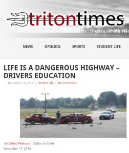 Varsity Driving Academy in Triton Times Dec 2014
