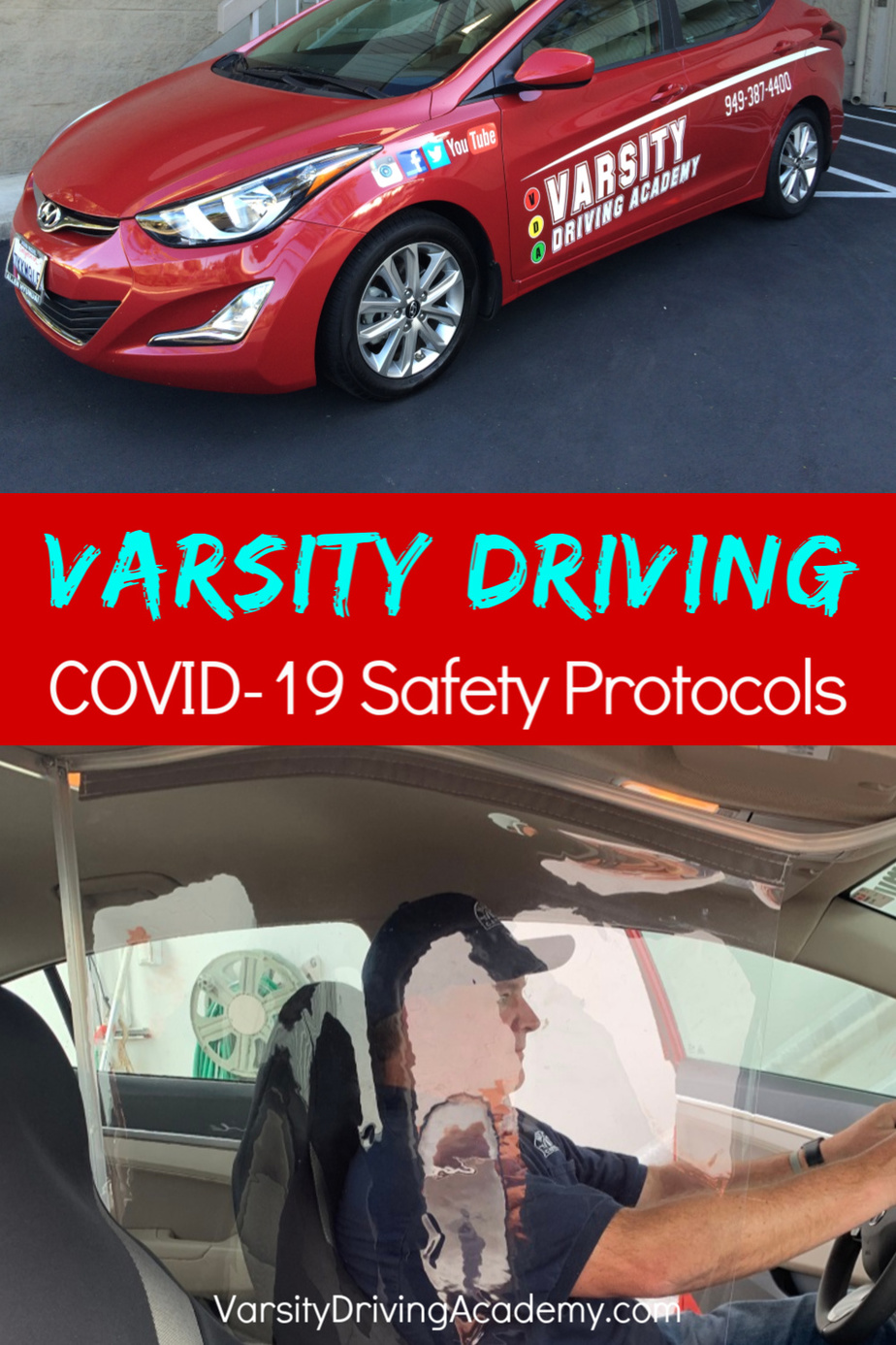 Varsity Driving Academy COVID-19 safety protocols will add even more layers of protection for students who need to learn how to drive.