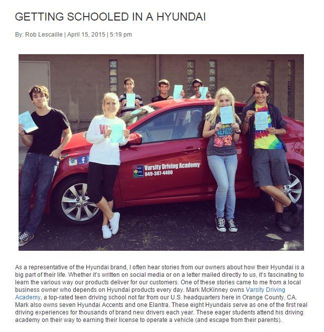 Varsity Driving Academy Hyundai